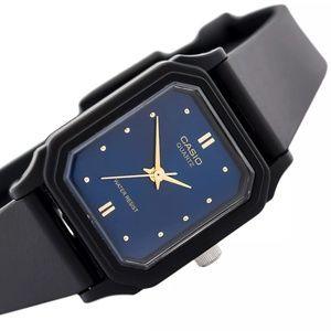 Casio Women's Elegant Watch Gold Markers Blue Dial